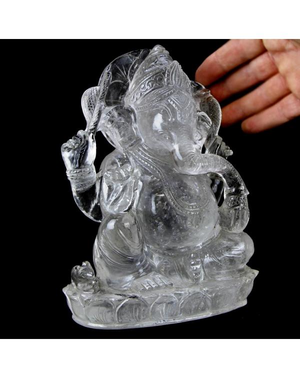 Quartz Ganesh Statue (2449g)