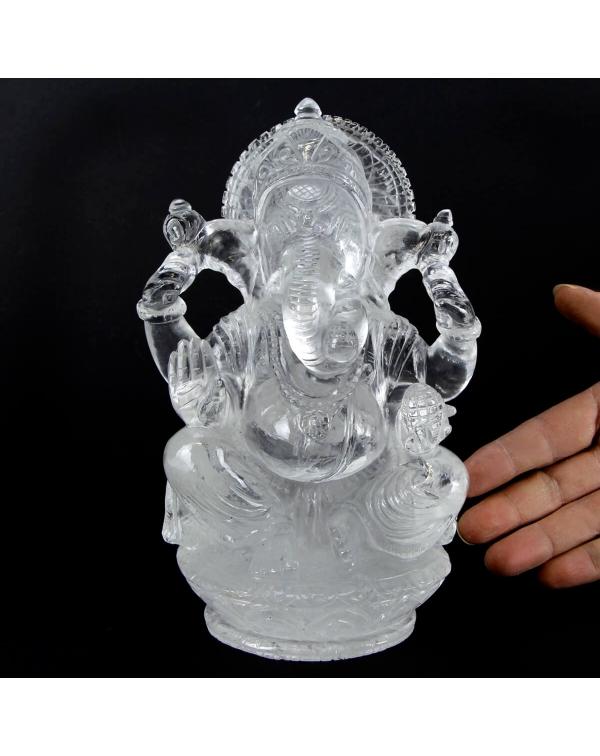 Quartz Ganesh Statue (2786g)