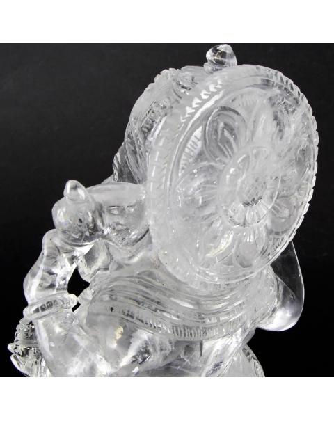 Quartz Ganesh Statue (2785g)