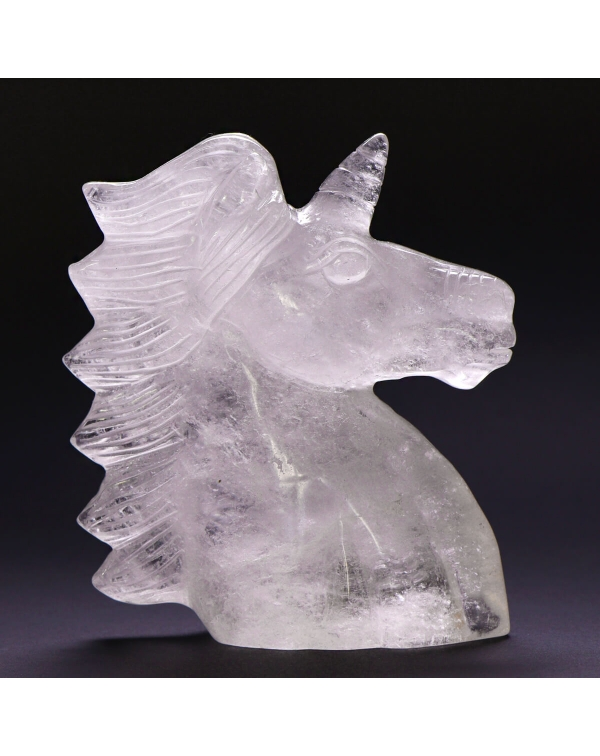 Quartz Unicorn Statue (780g)