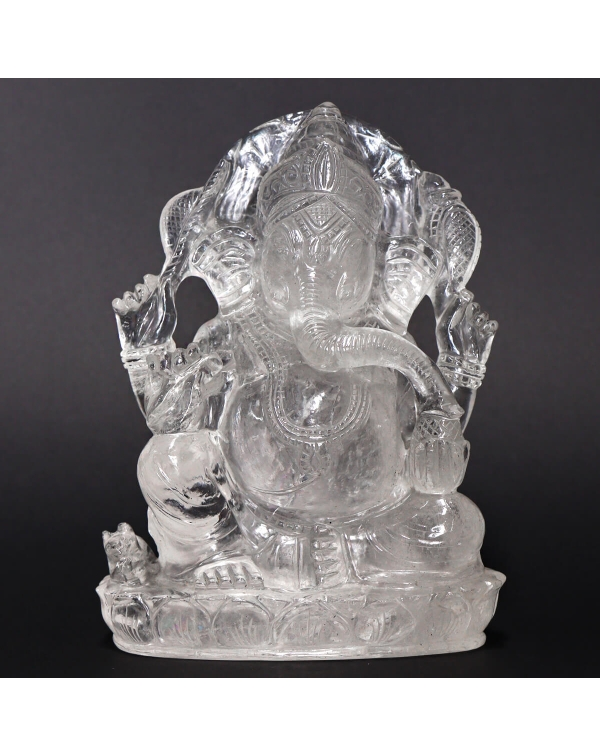 Quartz Ganesh Statue (2450g)